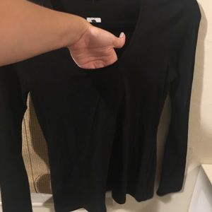 Express Tops - Black long sleeve scoop neck